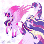 fat-bot highres princess_twilight redesign twilight_sparkle