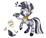 absurdres book glasses highres vicse zecora
