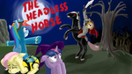 bees costume crossover fluttershy halloween headless_horse highres osakaoji pony_ride_the_pony rainbow_dash riding twilight_sparkle witch_costume wonderbolts