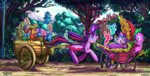 cart highres hospital jowybean magic ponyville princess_flurry_heart princess_twilight spike teddy_bear trees twilight_sparkle