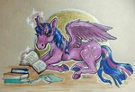 book highres horselike magic princess_twilight tanukiri traditional_art twilight_sparkle