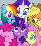 applejack fluttershy highres main_six mn27 pinkie_pie rainbow_dash rarity twilight_sparkle