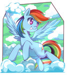 caibaoreturn cloud flying highres rainbow_dash