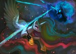 erinliona fight magic nightmare_moon princess_celestia