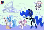 absurdres dirigible highres jowybean magic mop princess_luna sweetie_belle the_great_and_powerful_trixie uniform