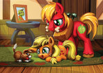 applejack big_macintosh bone granny_smith harwick photograph table winona