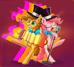 accordion cheese_sandwich microphone pinkie_pie senxshine tophat