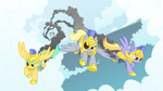 armor background_ponies cloudkicker derpy_hooves equestria-prevails eyepatch highres raindrops