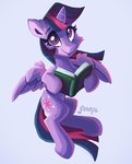 absurdres book highres princess_twilight saxopi twilight_sparkle