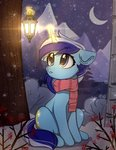 background_ponies highres lantern magic minuette reterica scarf