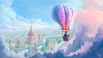 balloon cloud highres nemo2d ponyville scenery spike twilight_sparkle