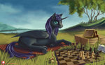 chess grass highres kirillk nyx original_character tree