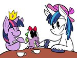 baby karpet-shark shining_armor spike tea_party twilight_sparkle young