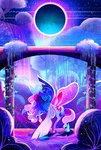 absurdres dinocasino highres moon nighttime princess_luna stars trees