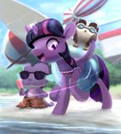 bakuel beach glasses owlowiscious spike sunglasses twilight_sparkle