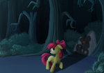 apple_bloom everfree_forest highres nebula210 shadow