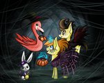 angel costume dress flamingo hat highres magic nightmare_night pound_cake pumpkin_cake zizka-von-mikser
