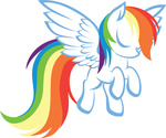 highres rainbow_dash simple up1ter vector
