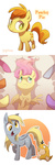 applejack background_ponies derpy_hooves filly fluttershy frozenspots peachy_pie pinkie_pie pokemon psyduck rainbow_dash rarity twilight_sparkle