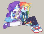 8-xenon-8 equestria_girls humanized rainbow_dash raridash rarity shipping