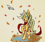 akweer applejack leaves scarf
