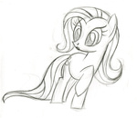 fim_crew fluttershy lauren_faust production_art sketch