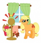 apple_bloom applejack ironychan