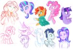 equestria_girls humanized mn27 pinkie_pie princess_celestia soarin starlight_glimmer sunburst sunset_shimmer twilight_sparkle
