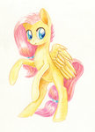 fluttershy highres maytee traditional_art