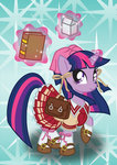 bonniepink book bow dress highres milk saddlebags shoes twilight_sparkle