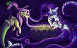 ariel crossover disney fluttershy lilithnanhart mermaid merponies rarity species_swap spike the_little_mermaid ursula