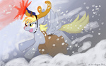 antlers bibliodragon christmas derpy_hooves flashlight mail reindeer rudolph_the_red_nosed_reindeer snowing winter