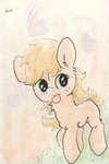 applejack filly slightlyshade tongue traditional_art