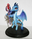 absurdres aplexpony bloodstone_scepter highres photo princess_ember sculpture