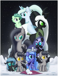 bird changeling ctb-36 filly hat moon original_character paper_hat princess_luna snow woona woonastuck