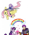 canas crossover fire_emblem florina fluttershy spear tuinen twilight_sparkle weapon