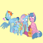 animated firefly g1 g3 g3.5 generation_leap rainbow_dash rainbow_dash_(g3) rainbow_dash_(g3.5) scootaloo wolfytails