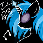 lulubellct vinyl_scratch white_on_black