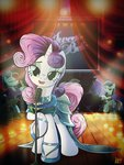 coloratura dress grown_up highres instrument microphone piano ruhisu singing sweetie_belle