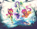 absurdres apple_bloom cutie_mark_crusaders highres scootaloo scooter sweetie_belle syntactics