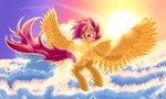 Post 67445, tags: artention, highres, huge_wings, scootaloo, rating:Safe, score:2, user:Geomancing