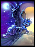 absurdres cloud highres moon nighttime princess_luna viwrastupr