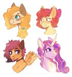 apple_bloom highres pear_butter princess_cadance scarletskitty12 scootaloo
