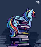 absurdres amy-gamy book highres rainbow_dash sleeping