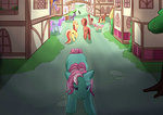 bag cart foxhat94 g3 minty original_character ponyville tears tree