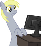 blackfeathr computer derpy_hooves looking_at_the_place_which_shall_not_be_named meme reaction_image