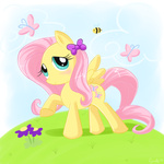 bees butterfly domestic-hedgehog fluttershy