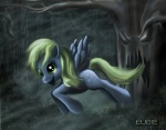 derpy_hooves eubie1085 everfree_forest rain