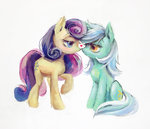 heart lyra_heartstrings lyrabon shipping son-trava sweetie_drops