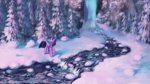 highres princess_twilight scarf snow tinybenz trees twilight_sparkle winter